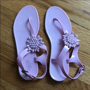 NEW COACH JELLY SANDALS WOMENS 9 Pastel Purple